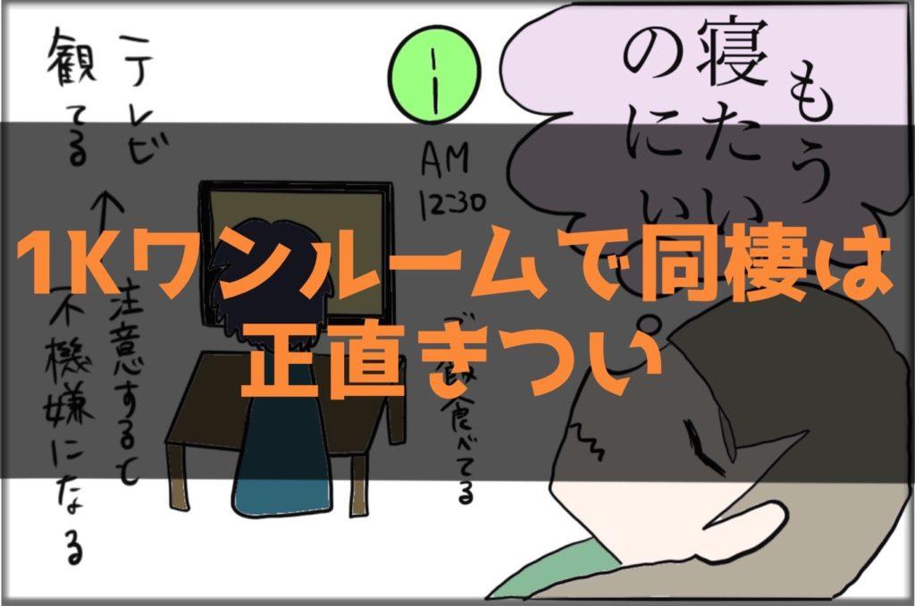 【超ストレス】1Kワンルームで同棲は正直きつい【体験談】