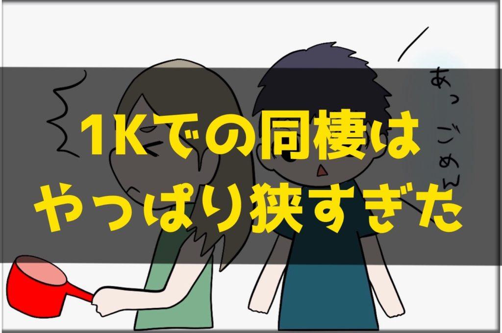 1Kでの同棲はやっぱり狭すぎた話【3LDKに引っ越した結果】