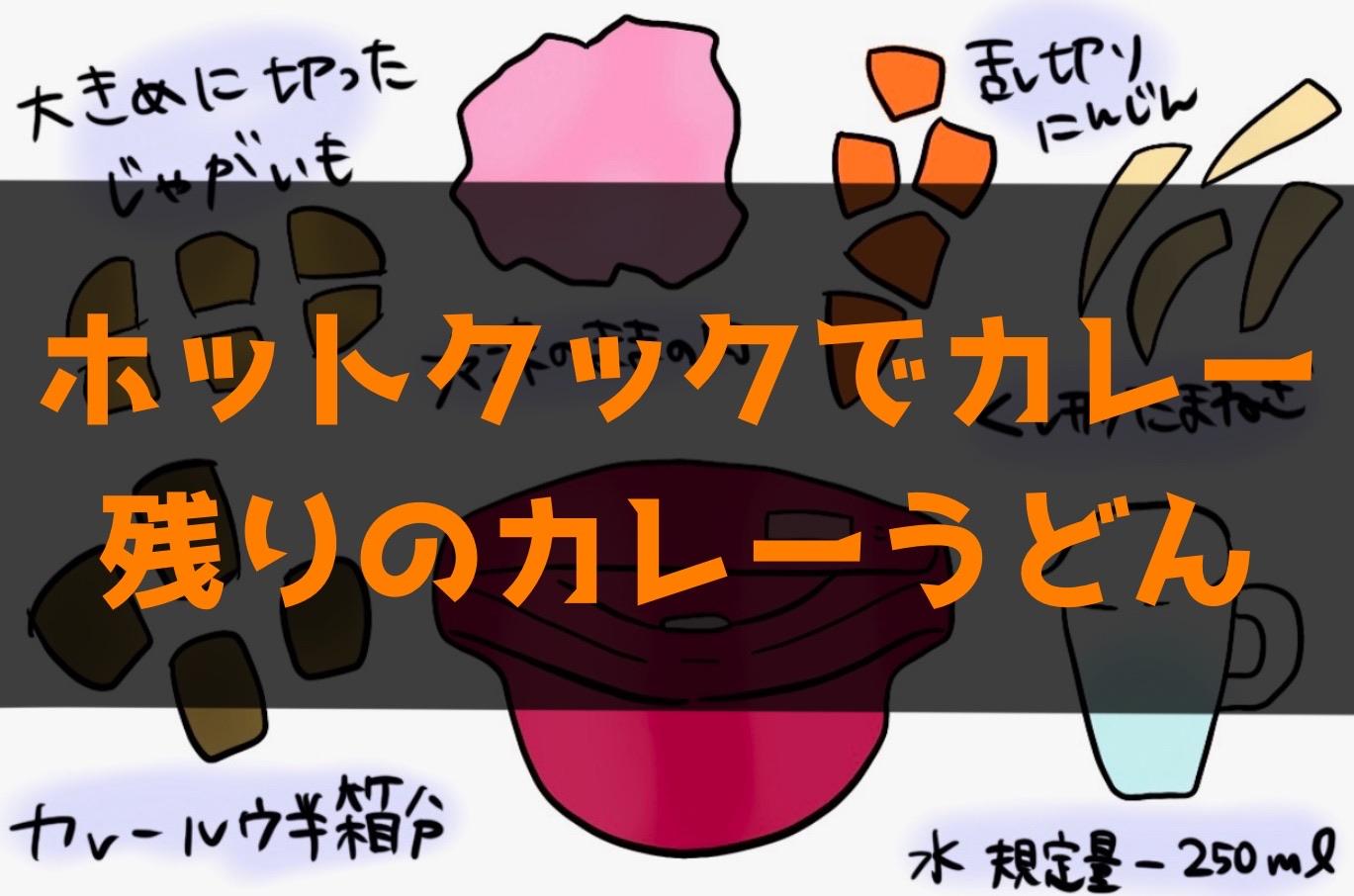 【ホットクック】カレーと残りの卵入りカレーうどんのレシピ