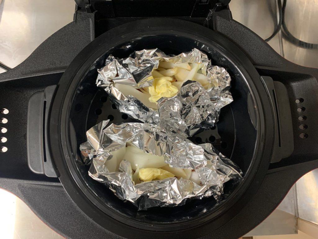【ホットクック】タルタルソースを同時に作る鮭のホイル焼き