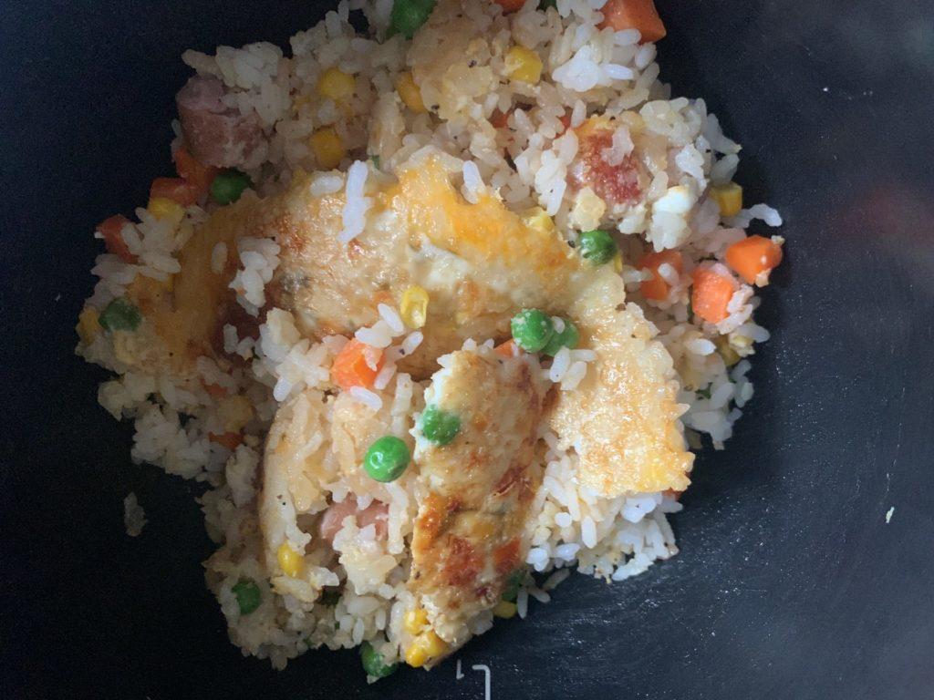 【ホットクック】冷凍ご飯で作る超簡単チャーハン【在宅勤務の昼食に最適】